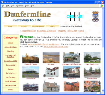 Come and see Dunfermline - click to see pictures